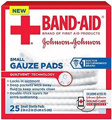 BAND AID First Aid Small Gauze Pads 2 in x 2 in 25 Each