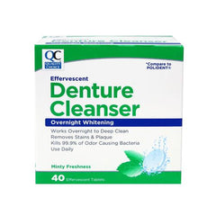 Quality Choice Denture Cleanser Overnight Whitening 40 Tablets Each