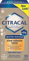 Citracal with Calcium D Slow Release 1200 80 Coated Caplets