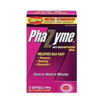 Phazyme 180mg Anti-gas Simethicone 12 Softgels