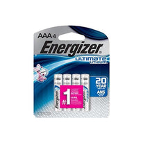Energizer L92BP-4 Ultimate Lithium AAA Batteries - 4 Pack