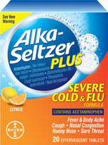 Alka-Seltzer Plus Severe Cold & Flu Citrus Formula Effervescent Tablets 20 count