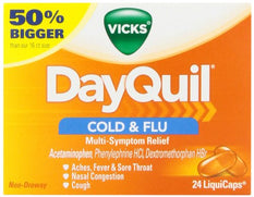 Vicks Dayquil Multi-System Cold/Flu Relief Liquicaps Non-Drowsy 24