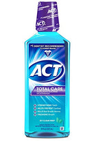 ACT Total Care Anticavity Fluoride Mouthwash Icy Clean Mint 18 Ounce Each
