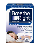 Breathe Right Nasal Strips Original Tan Small/Medium 30 Each