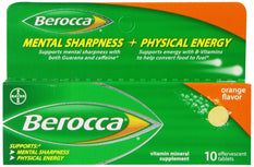 Berocca Effervescent Tablets Orange 10 Count