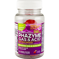 Phazyme Gas+ Acid Maximum Strength 250 mg Cherry 24 Coated Chews Each