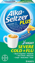 Alka-Seltzer Plus Honey Lemon Night Severe Cold + Flu Relief 6 packets