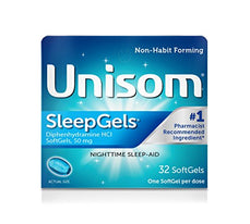 Unisom SleepGels 32 Capsules Each