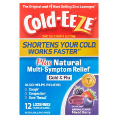 Cold-Eeze Plus Natural Cold & Flu Relief Mixed Berry 12 Cold Remedy Lozenges
