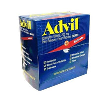 Advil Ibuprofen 200mg Tablets Pain Reliever, Fever Reducer 50/2 Packs Dispenser