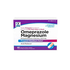 Quality Choice Omeprazole Delayed Release Acid Reducer 20mg 42 Tabs Each