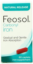 Feosol Carbonyl Iron Supplement Caplets Natural Release 60 Caplets Each