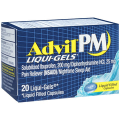 Advil PM Liqui-Gels Night Time Pain Reliever 20 Liqui-Gels