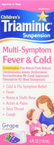 Children's Triaminic Mutli Symptom Fever & Cold Liquid Grape 4 Ounce Each