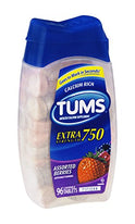 Tums E-X Extra Strength Antacid Chewable Tablets Berries 96