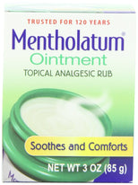 Mentholatum Original Topical Analgesic Ointment Aromatic Vapor Rub 3 Ounce