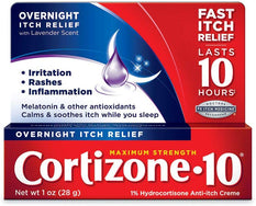 Cortizone 10 Maximum Strength Overnigth Itch Relief Cream 1 Ounce