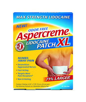 Aspercreme Lidocaine XL Pain Relief Patch, Max Strength, Odor-Free, 3 Count