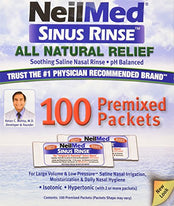 NeilMed Sinus Rinse Premixed Refill Packets 100 Each