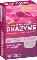 Phazyme Maximum Strength Softgels, 36 Each