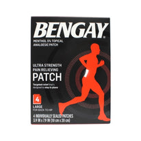 Bengay Ultra Strength Pain Relieving Patch Large Size 4 Count Each