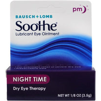 Bausch & Lomb Lubricant Eye Ointment Night Time Dry Eye Therapy 1/8 Ounce Each