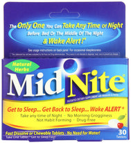 Midnite Sleep Aid 30 Chewable Tablets Ea