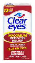 Clear Eyes Maximum Strength Redness Relief Eye Drops 0.5 Ounce Each
