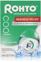 Rohto Lubricant Eye Drops Redness Relief Cooling 0.4 Ounce Each