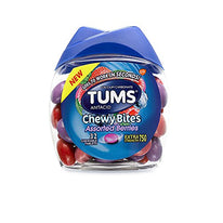 Tums Antacid Chewy Bites Asst Berry Chewable Tablets 32 Count Each