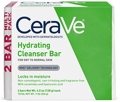 CeraVe Hydrating Cleansing Bar Soap 2-pack (4.5 Ounce each)