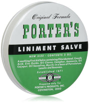 Orginal Formula Porter's Liniment Salve 2  Ounce for Cuts Burns