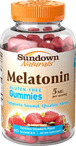 Sundown Naturals Melatonin Gummies 5mg Gluten Free 60 Count Each