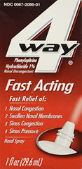 4 Way Fast Acting Nasal Decongestant Sinus Spray 1 Fl Ounce each