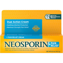 Neosporin Maximum Strength Antibiotic + Pain Relief Cream 0.5 Ounce Each