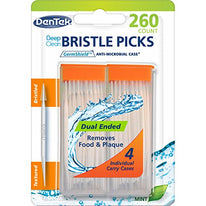 Dentek Deep Clean Bristle Picks Mint 260 Count Each