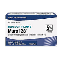 Bausch & Lomb Muro 128 Ointment 5% 2-Count Tubes 7G in Each