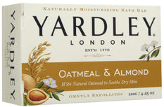 Yardley London Soap Bath Bar Oatmeal & Almond 4.25 Ounce