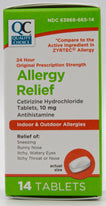 Quality Choice Allergy Relief Cetrizine HCI 10 mg 14 Caplets