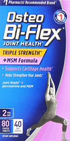 Osteo Bi-Flex Joint Health Triple Strength + MSM Formula 80 Tablets