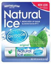 Mentholatum Natural Ice Medicated Original SPF 15 Lip Protectant Balm