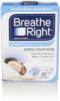 Breathe Right Nasal Strips Small/Medium Clear 30
