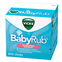 Vicks Babyrub Soothing Ointment soothing comfort for babies 1.76 Ounce