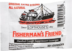Fisherman's Friend Menthol Cough Suppressant Natural 20 Lozenges
