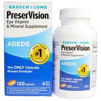 Bausch+Lomb PreserVision AREDS Eye Vitamin & Mineral Supplement 120 Count Each