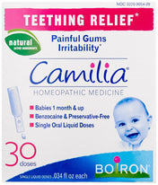 Boiron Camilia Teething Relief, 30 Count (0.034 fl  Ounce each)