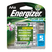 Energizer Recharge Rechargeable Batteries AA Size 2300mAh NiMH 8 pack NH15BP-8