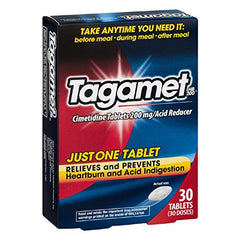 Tagamet Acid Reducer, 200mg Cimetidine Tablets, 30 Count