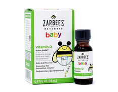 Zarbee's Naturals Baby Vitamin D Supplement Safe & Effective .47 Ounce Each